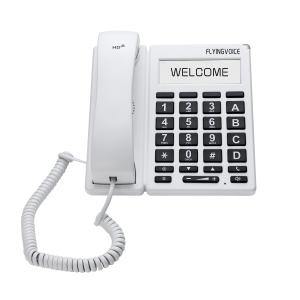 FIP12W Big button Telefoon wit- front