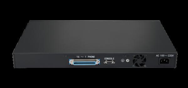 FGW4148-16S Voip telefoon gateway - back - van Flyingvoice