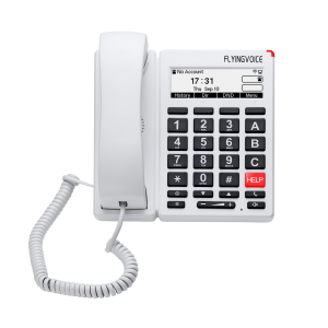 FIP12W Big button Telefoon wit- front