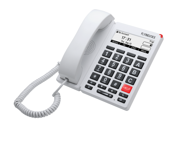 FIP12W Big button Telefoon wit- right